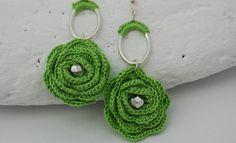 Aros   pendientes de ganchillo  aretes  zarcillos crochet