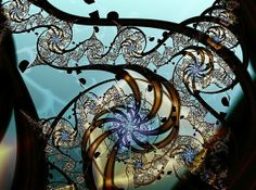 Fractal, but looks like stained glass...cool!