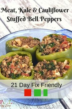 meat-kale-and-cauliflour-stuffed-bell-peppers-21-day-fix-friendly