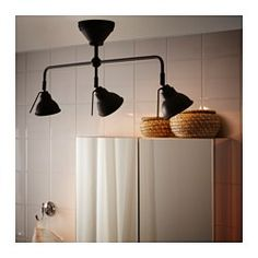 VITEMÖLLA Triple ceiling spotlight IKEA You can easily direct the light to different places since each spotlight can be adjusted individually. House Design, Kitchen Lamps, Ceiling Lights, Ikea, Kitchen Feature Wall, Kitchen Lighting, Bathroom Ceiling Light, Trending Decor, Track Lighting
