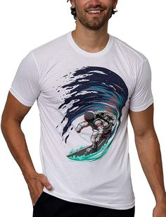 Premium Short Sleeve Casual Crew Neck Tee Shirt INTO THE AM Mens T-Shirts