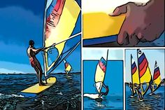 Did you know that in the 1980s, Morey Boogie produced a soft sailboard - or windsurf board - designed by Mickey Fremont?