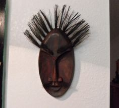 Wooden Tribal Mask. Starting at $9 on Tophatter.com!