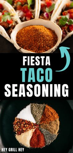 My Fiesta Taco Seasoning Recipe is full of big flavor, and it's extremely versatile! Use it in tacos, chili, fajitas, shredded pork, chicken, and beef. It's so much more than just a taco seasoning!