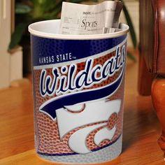 Kansas State Wildcats Plastic Football Wastebasket - $7.99