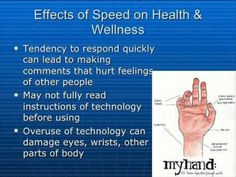 The effects it has on hands , meaning that the response to people's messages it's more hurtful