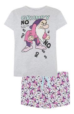 Primark - Grijs-roze Grumpy-pyjamaset met short