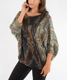 Take a look at this Blue Cable Wool Dolman Sweater by Shoreline Wear on #zulily today! $30 !!