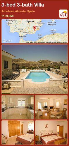 3-bed 3-bath Villa in Arboleas, Almeria, Spain ►€159,950 #PropertyForSaleInSpain