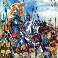 Moldavian Army of Stefan the Great XVth century Medieval Knight, Medieval Armor, Michael I Of Romania, Early Middle Ages, Knights Templar, Dark Ages, Military Art, Warfare, Illustrations