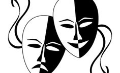 Resources For Those Who Love Teaching Drama #theatre Drama Teacher, Drama Class, Drama School, Ying Y Yang, Tragedy Mask, Comedy And Tragedy, Character Trait, Stage Play, Image Manga