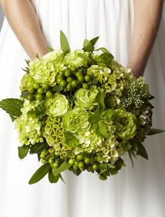 love all the green in the bouquet