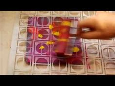 ▶ realisation d'une carte avec la gelli - YouTube