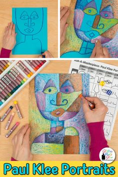 Introduce lower elementary students to modern art with Paul Klee portrait drawings! Art Games For Kids, Art Lessons For Kids, Art Lessons Elementary, Art Sub Plans, Art Lesson Plans, Portraits For Kids, Paul Klee Art, Art History Lessons, Kindergarten Art Projects