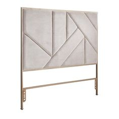 Nothing creates an instant focal point like a headboard. These were crafted exclusively for Pier with a modern geometric design and velvety texture, plus a neutral gray color for versatility.