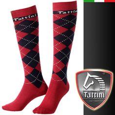 Tattini Tartan Socks - Available in Red, Blue & Black