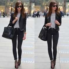1. LEATHER JACKET, SHEINSIDE, WWW.SHEINSIDE.COM 2. STRIPED SHIRT, CHOIES, HTTP://WWW.CHOIES.COM/PRODUCT/WHITE-BATWING-SLEEVE-T-SHIRT-WITH-STRIPE?CID=1611