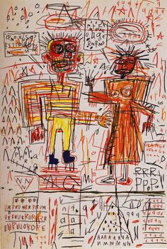 Self Portrait with Suzanne - Jean-Michel Basquiat, 1982