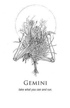 Gemini - Shitty Horoscopes Book IX: The Body and The Wreckage by musterni Gemini Art, Gemini Life, Gemini Quotes, Gemini Woman, Zodiac Art, Zodiac Signs, Portfolio Book, Tattoo Portfolio, Gemini And Cancer