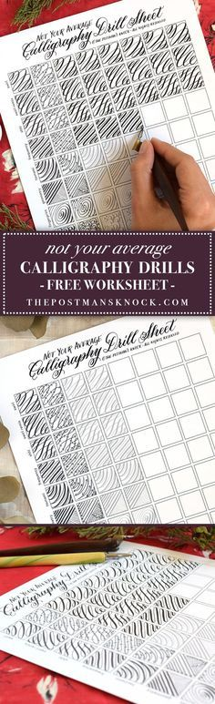 Not Your Average Calligraphy Drills (Free Printable Worksheet) | The Postman's Knock