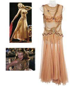 rita hayworth's divine chiffon halter dress from salome - designed by jean louis in 1953