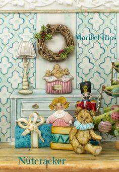 Diorama Cascanueces (Nutcracker) cookie 3D royal icing pintado a mano royal icing toys