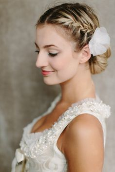 Side View of Braided Bun for Wedding – Wedding Hairstyles 2014 | Hairstyles Weekly
