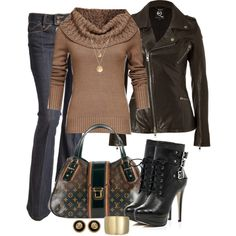 A fashion look from November 2012 featuring Mexx sweaters, McQ by Alexander McQueen jackets and Crafted jeans. Browse and shop related looks.