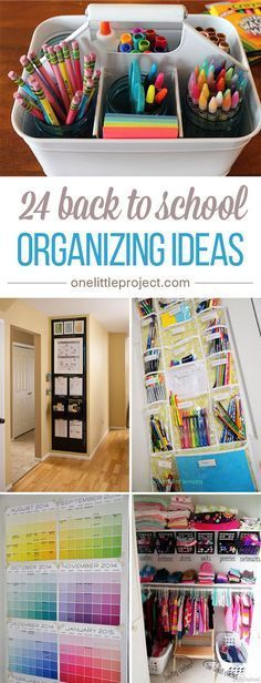 24 Back to School Organizing Ideas : These back to school organization ideas make the perfectionist in me so happy! So many great tips!