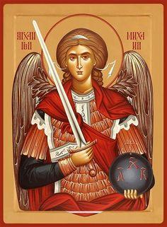 Icon of the Archangel Michael - c. Catholic Pictures, Jesus Pictures, Religious Icons, Religious Art, Gabriel, Archangel Tattoo, Orthodox Prayers, Paint Icon, Byzantine Icons