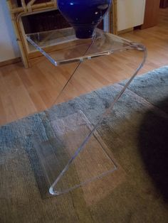 Vintage z shape Mid century Lucite side table by JasperKaneDesigns, $129.00