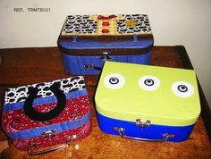 Objetos by Déa: TOY STORY - Trio de maletas temáticas