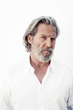 Jeff Bridges by Danny Clinch Grey Hair Men, Long Gray Hair, Jeff Bridges, Older Mens Hairstyles, Haircuts For Men, Men Photography, Portrait Photography, Hair And Beard Styles, Long Hair Styles