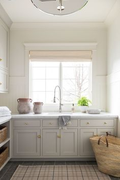 Home Decor Kmart Bright clean laundry room with beautiful decor.Home Decor Kmart Bright clean laundry room with beautiful decor Grey Laundry Rooms, Laundry Room Cabinets, Laundry Room Design, Layout Design, Design Design, Kitchen Decor, Kitchen Design, Kitchen Furniture, Houses