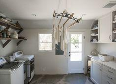 Amanda Pays and Corbin Bernsen laundry room LA | Remodelista