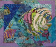 I have been a member of a Fractured Art Quilt group for about four years now. The group began with six members in the first year. Animal Quilts, Love To Meet, Fabric Art, Quilt Blocks, Fiber Art, Quilting, Fish, Creative, Crafts