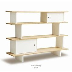 <p>Foster an early love of books in your kids with the Oeuf Mini Library. The design alone looks great, and if you?re looking for minimal, contemporary styles in your nursery or playroom furniture, this is what will fit the room perfectly. Made of strong, sturdy wood, the Mini Library is built at a height that makes it easy for kids to reach for their favourite story book, and is well-designed to reduce safety risks. With a great look for nursery keepsakes and a later toy organizer as well…