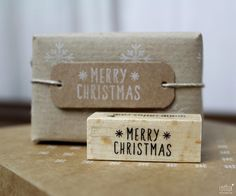Weihnachtsstempel - STEMPEL Merry Christmas - ein Designerstück von Frl_Rotfux bei DaWanda