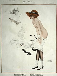 wickedknickers: drakecaperton:Brise de Mai, by Kirchner From La Vie Parisienne