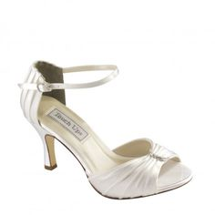 Touch Ups Robin Dyeable White Satin Prom Bridal Bridesmaid Kitten Heel Shoe