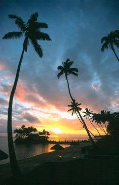 Beautiful Sunsets Create Memories Viti Levu Coral Coast Fiji Islands Most