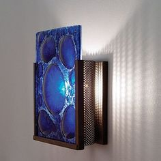 WPT Design FNJudy 2 Light Wall Sconce Shade Color: WiredBlue, Finish: Bronze