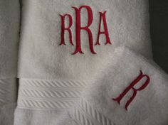 Custom Decorator Personalized Towel and Wash by RiginalsByRuth
