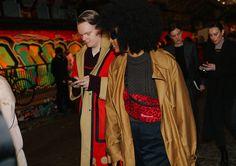 Anders Christian Madsen and Julia Sarr-Jamois London fashion week 2018 fall street style Street Looks, Street Style, London Fashion Week 2018, Fashion Photo, Christian, Coat, Photos, Bags, Street