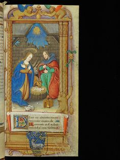 Christmas scene in a 16th century manuscript