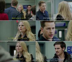 """She took your brother."" - David, ""Because i failed."" - Emma.  Kansas 3*20"