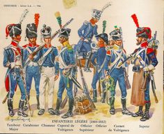 NAP- France: French Infanterie Légère 1804-1812, by Eugène Leliepvre.