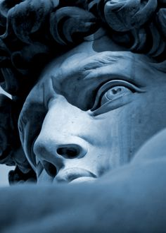 David of Michelangelo: face's detail