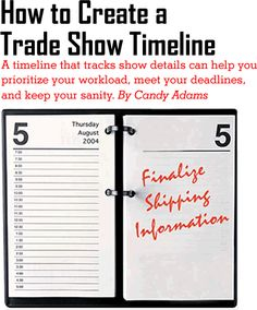 #HowTo Create a Trade Show Timeline #exhibitors #tradeshow | EXHIBITOR Magazine