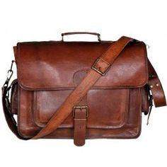 """LH269. Skórzana teczka listonoszka BUSINESS MARK 3™ torba na ramię męska. Rozmiar 16"""""""
